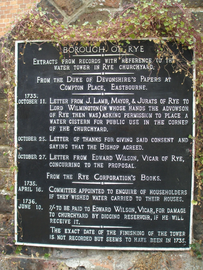 Plaque on the Water House