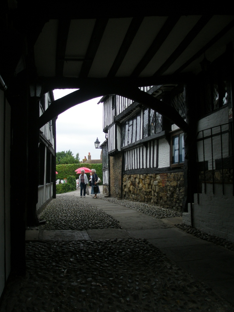 Passage leading to the Courtyard, at the Mermaid Inn.