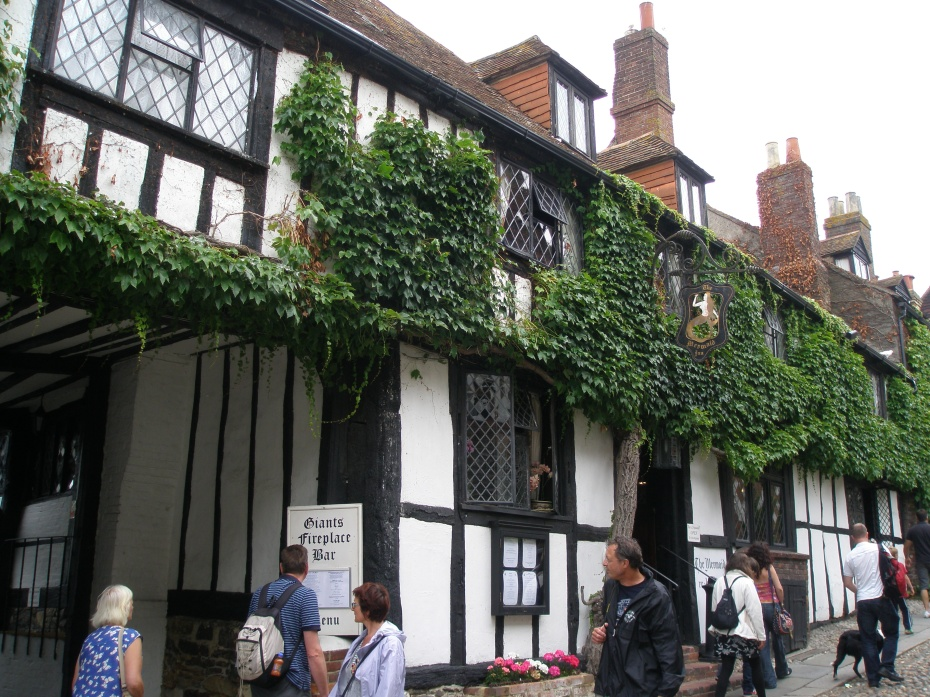 The Mermaid Inn. Some of the timbers of the Inn were taken from ships that had been disassembled. For those so-inclined (which I'm NOT), the Mermaid Inn is reputed to be one of the most-haunted buildings in England. Of the Inn's 31 bedrooms, 6 are said to be plagued by ghostly visitors.