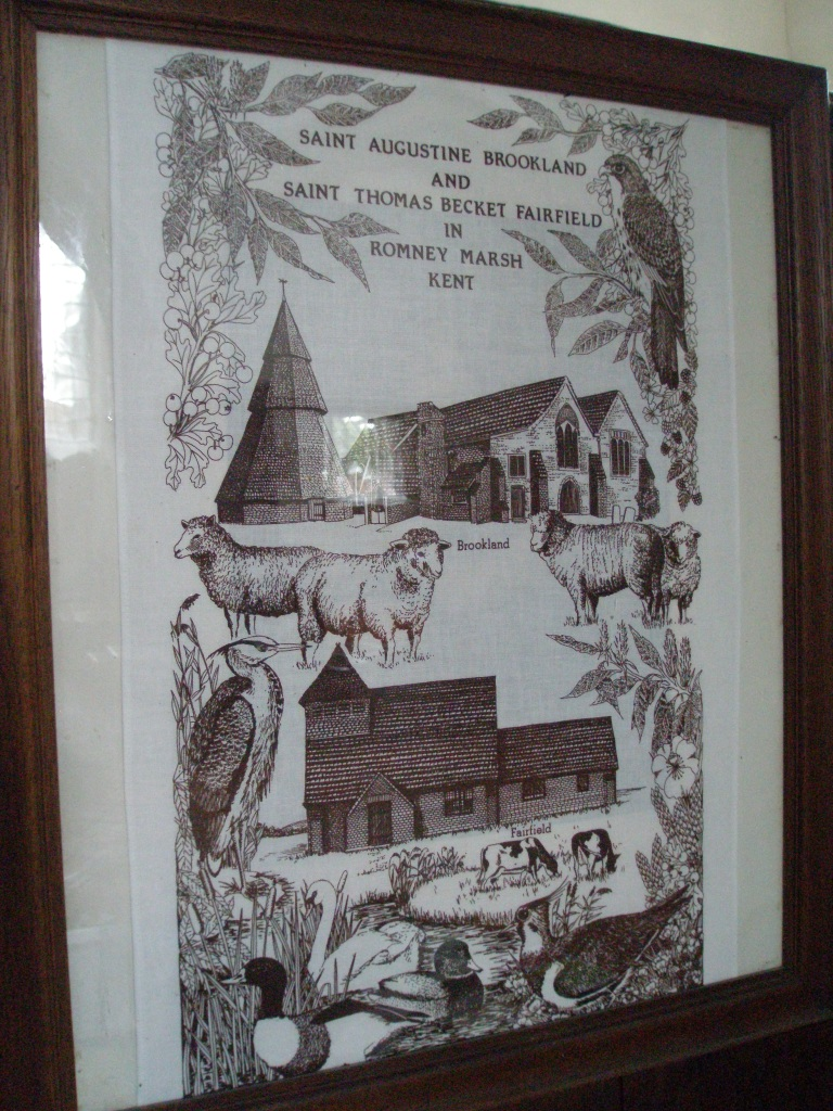 And what would England be without her Tea Towels! This is displayed in the Church of St.Augustine, and I'm sorry none were for  sale.