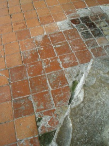 The much-trodden floor tiles of the Church of St.Augustine
