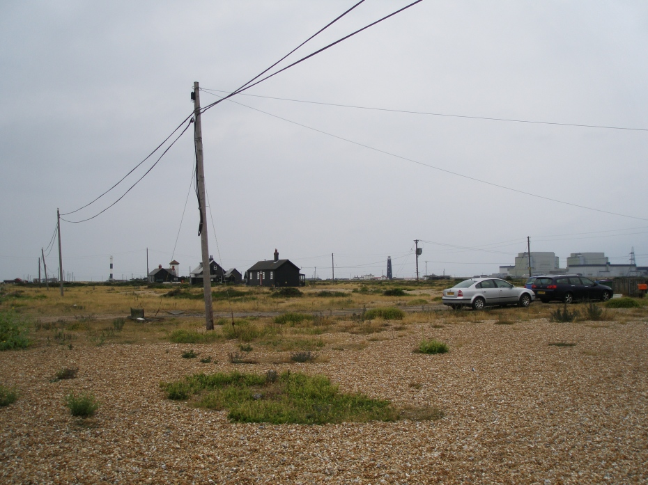 View from Prospect Cottage's garden or the Dungeness Nuclear Power Station, on August 7, 2013