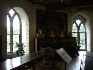 Inside the Queen's Gallery.