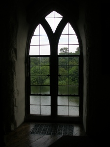 A window in the Queen's Gallery.