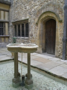 The courtyard's gorgeous Fountain. (I wish people wouldn't throw coins in pools!)