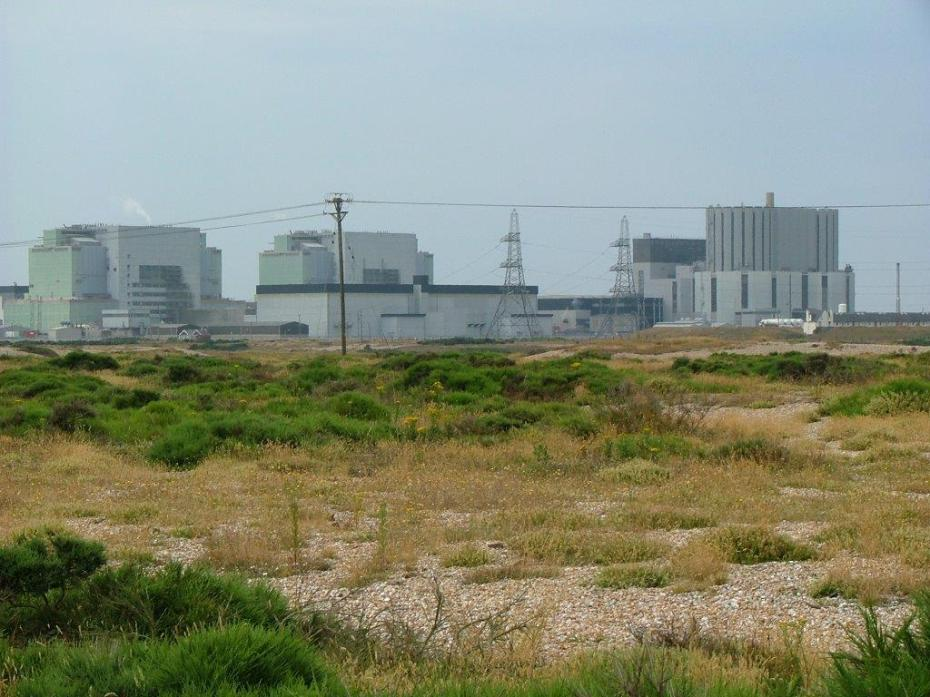 A telephoto view of the Dungeness Nuclear Power Station, taken from Derek Jarman's garden. Photo by Anne Guy.