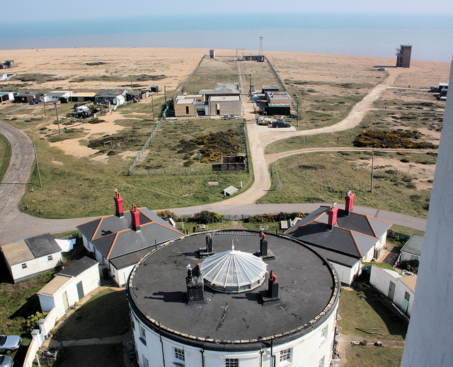 View of Dungeness, from the top of its old lighthouse