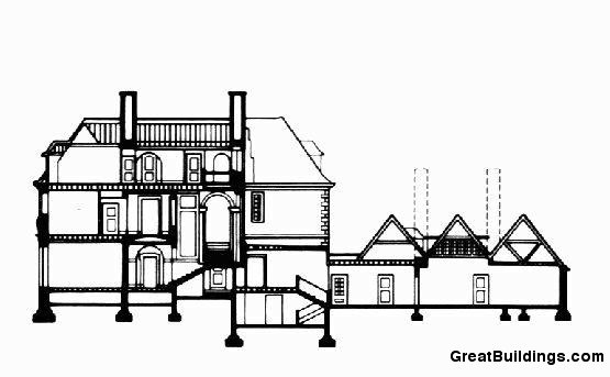 Salutation. Cross section of House. Image courtesy of greatbuildings.com