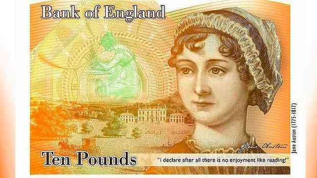 Jane Austen's visage will appear on Britain's 10 Pound Note, beginning in 2017. She's finally, officially, worth her weight in gold...as all of us who read her have known, all along.