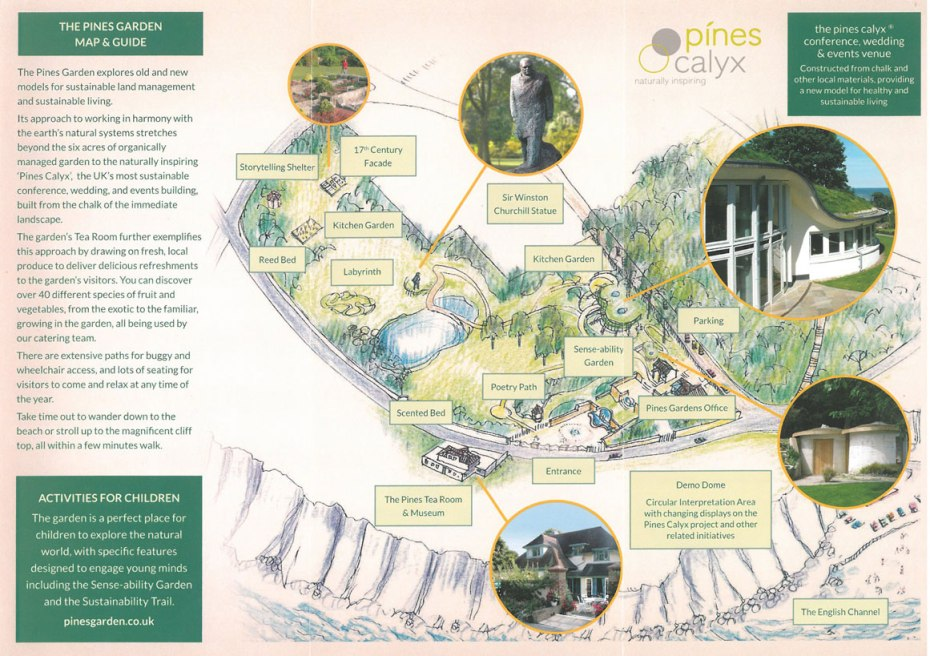 Map of the grounds at The Pines Garden