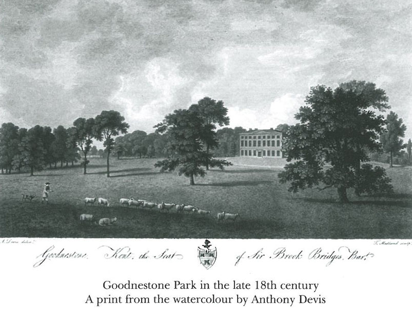 The 3rd Baronet's changes to the landscape around Goodnestone Park. This is Goodnestone, as Jane Austen saw it. Image courtesy of Goodnestone Park.