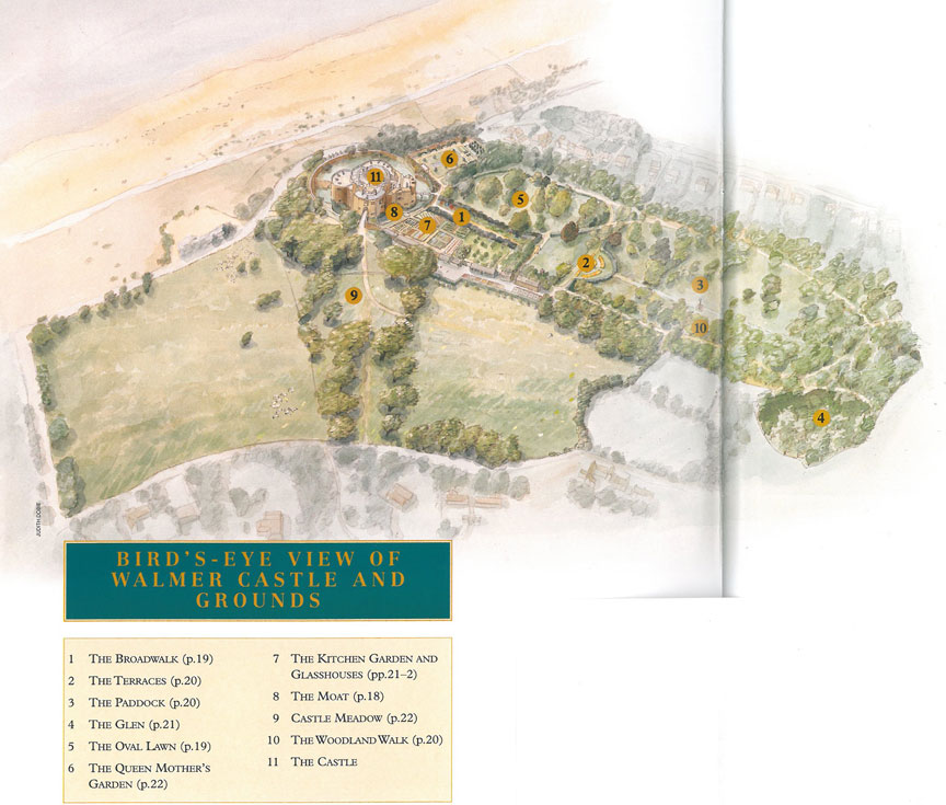 Map of the Grounds at Walmer Castle. Image courtesy of Walmer Castle.