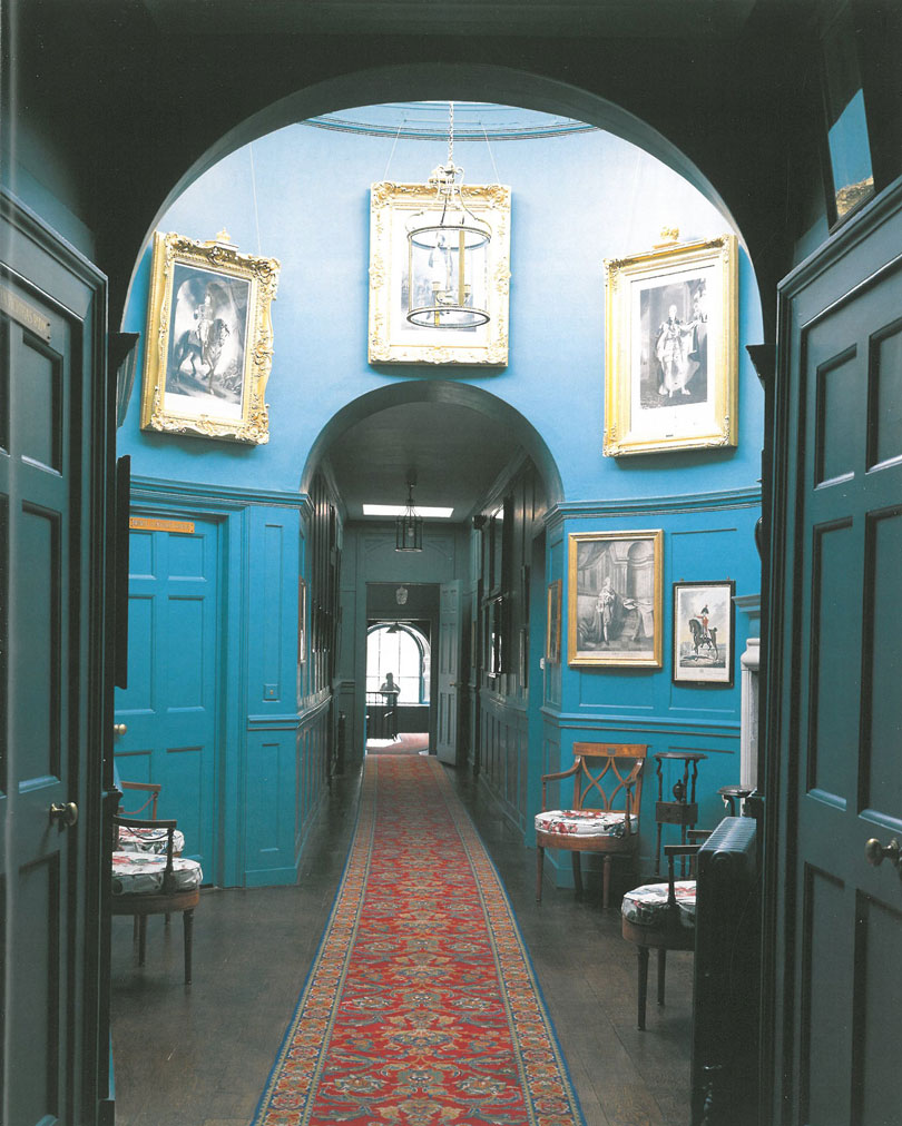 William Pitt the Younger's Blue Corridor, which was fashioned in the late 1790s. Image courtesy of Walmer Castle.