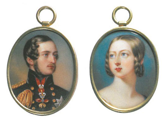 Miniature of Prince Albert (1842) by Henry Pierce Bone. Miniature of Queen Victoria (1839) by William Essex. Images courtesy of Walmer Castle.