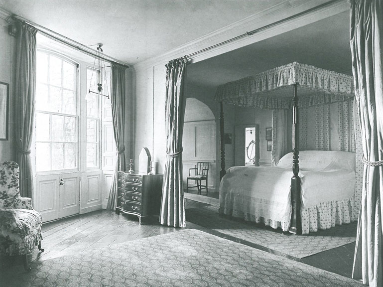 Queen Victoria's not-at-all-fancy bedroom, as pictured in a 1919 magazine spread. Image courtesy of Walmer Castle.