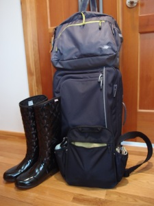 Apart from the clothes on my back, this is all I'll drag along, during my 41-day journey to England and Italy.