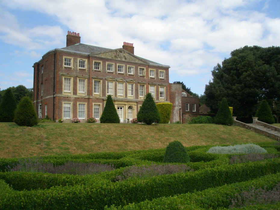 The East Face of the House overlooks a sunken Parterre, which was created in 2000.