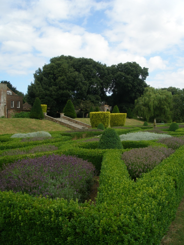 The Parterre, planted in 2000 to echo the design of the original gardens of 1719.