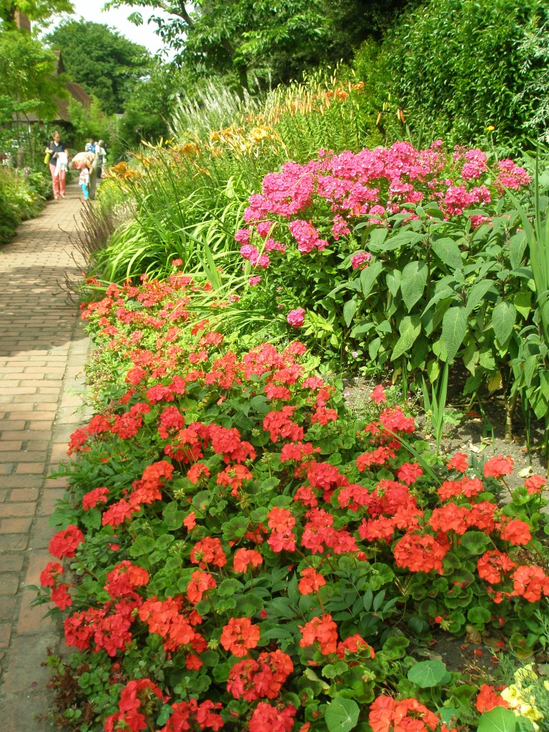 Bright blocks of color, on the Long Border