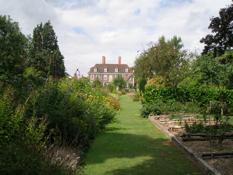 The view from the Vegetable Garden, toward the Main Terrace of the House