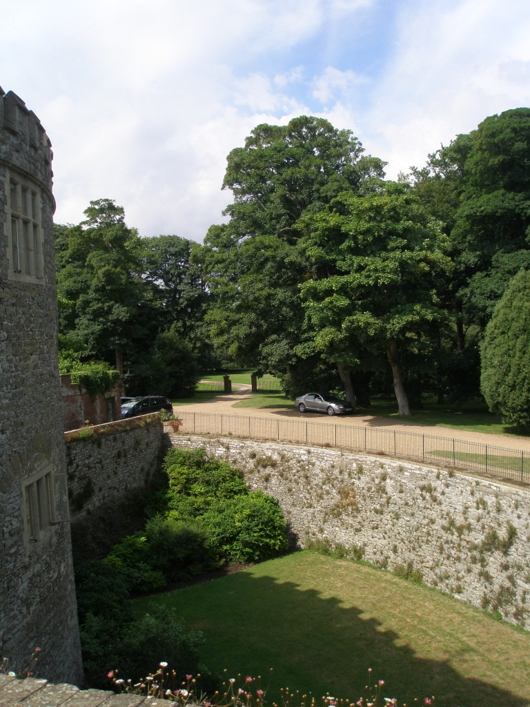 As we stepped out onto the Ramparts, I looked across the moat, and saw Steve's well-shaded silver car.