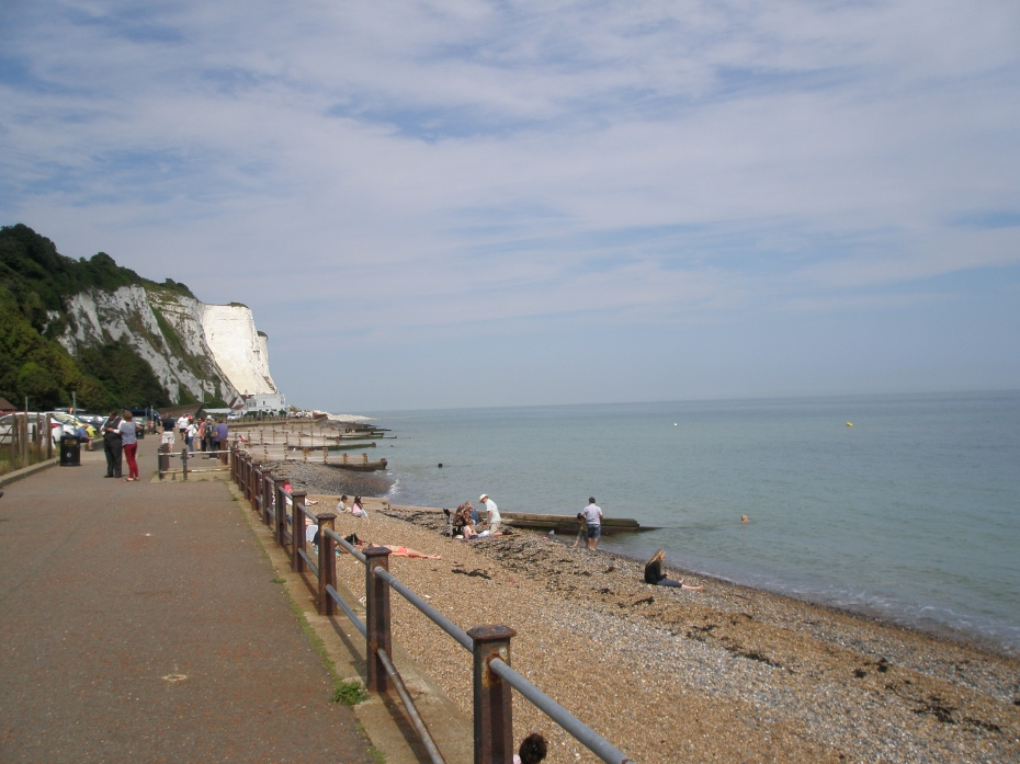 We then walked in the opposite direction, along the shingle beach.