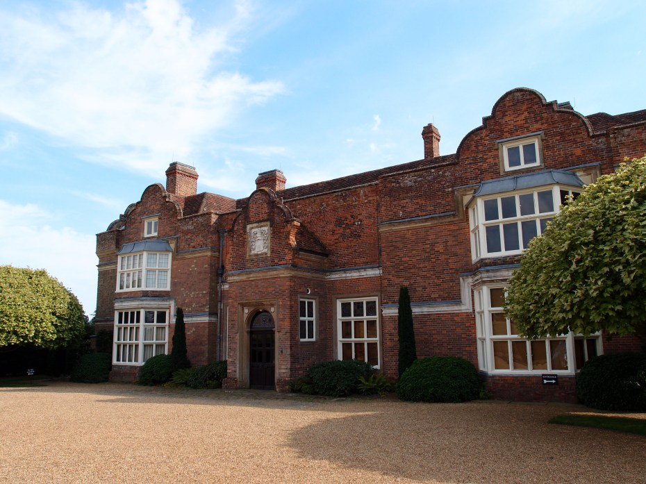 The North Front of the House. Behind this Jacobean exterior, which dates from about 1628, the medieval hall of the original timber-framed House, which was built in the 14th century, remains. As with all venerable English homes, layers upon layers of architectural styles co-exist at Godinton.