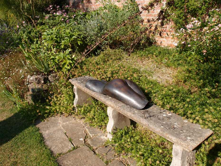 A Cheeky Bit of Decoration, on a bench in the Italian Garden