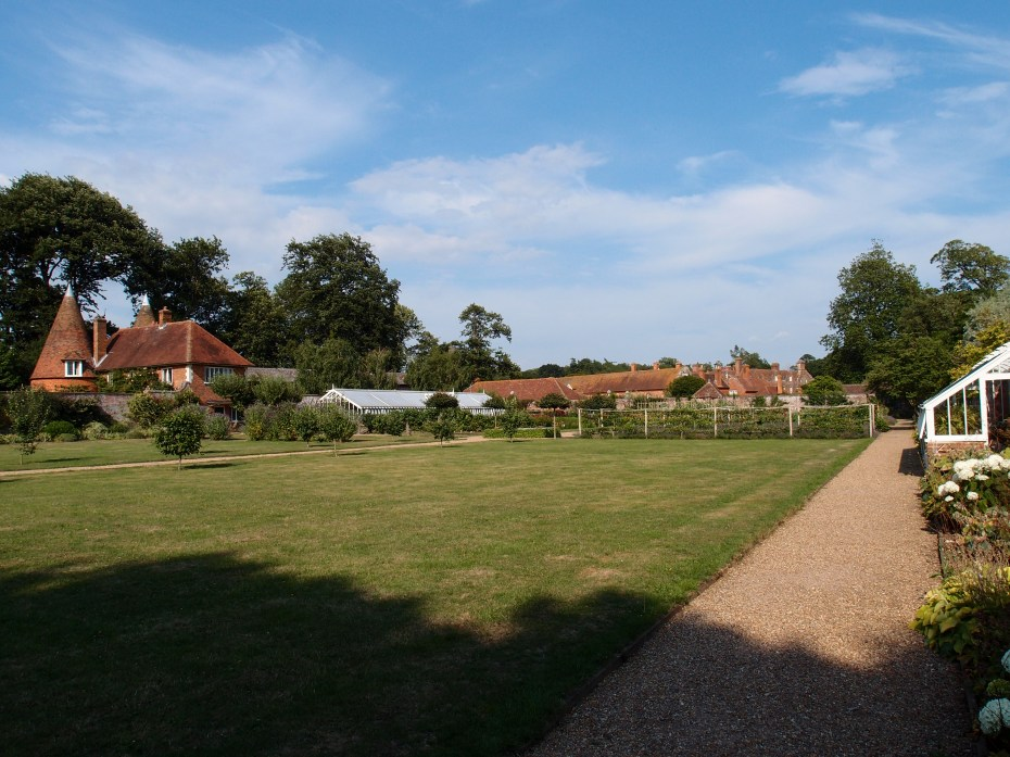 A view over the Walled Garden, as we stand in its southwest corner