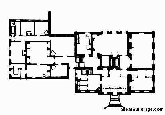 Salutation. Plan of Lower Floors. Image courtesy of greatbuildings.com