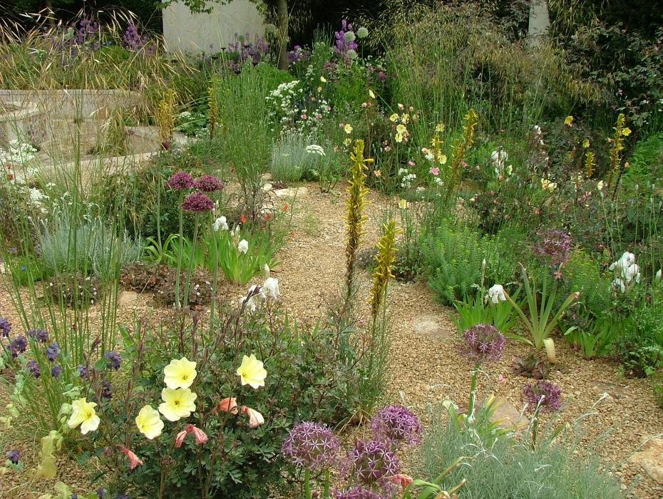 The M&G Garden. This garden's plantings seem almost scattershot. I enjoy pleasant chaos in a garden as much as anyone, but the plantings here need a bit more focus. Photo by Anne Guy.