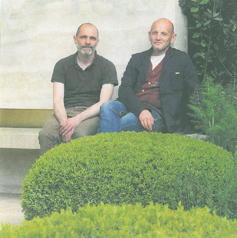 Tommaso del Buono, and Paul Gazerwitz, designers of the Telegraph Garden. The RHS wisely awarded these gentlemen a Gold Medal. Photo courtesy of The Telegraph.