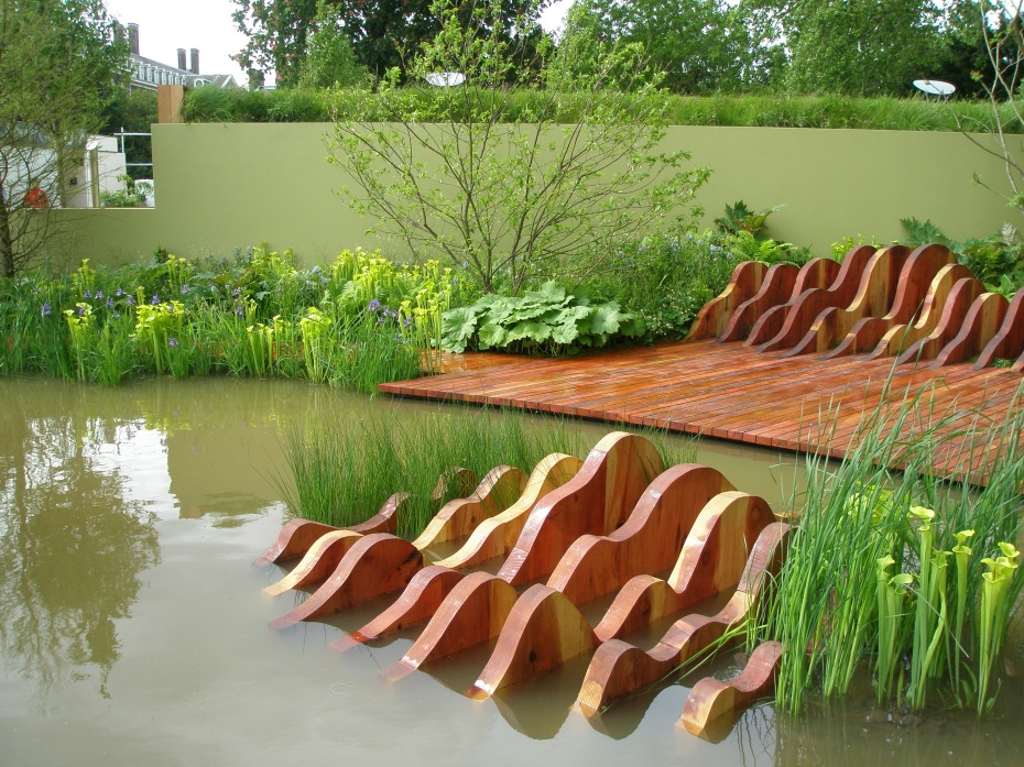 At the Chelsea Flower Show in May 2009