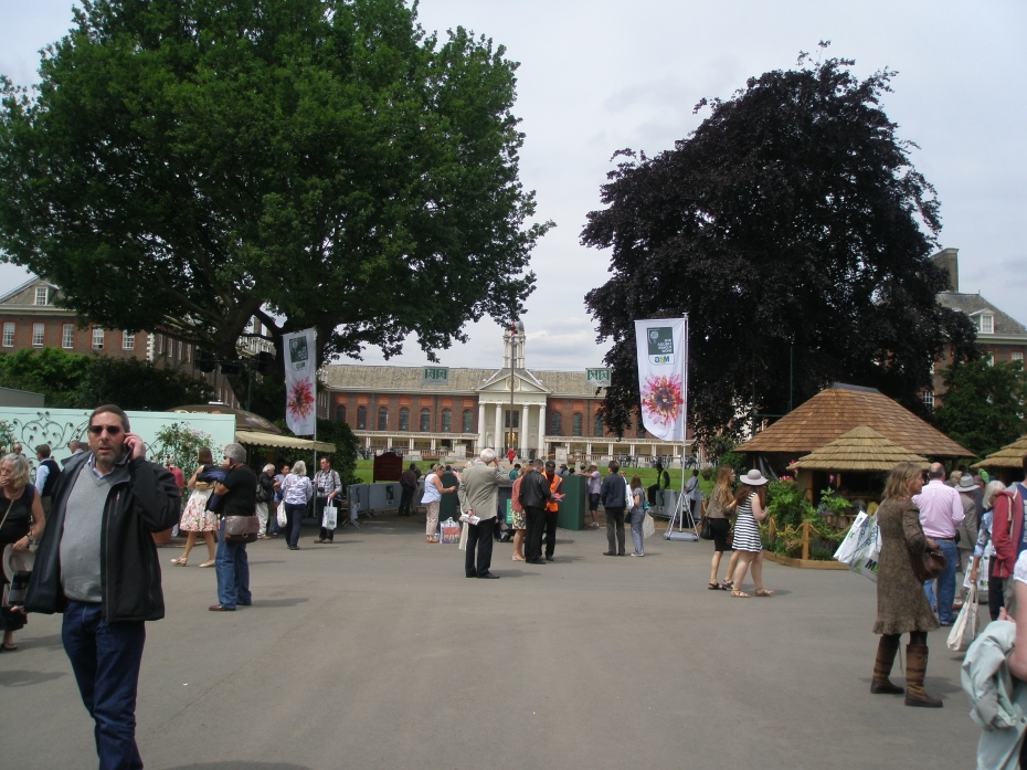 The Royal Hospital, seen from the grounds of the Chelsea Flower Show.