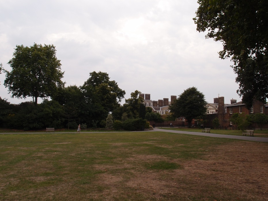 Another Reality Check! Peering back in time: during my August 23, 2013 visit to the grounds at the Royal Hospital. This is the exact site upon which the 2014 M&G Show Garden would be built, 8 months later.