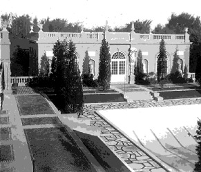 Vintage photo of the Casino's swimming pool, as it appeared in the 1920s. Image courtesy of the Trustees of Reservations, Archives & Research Center