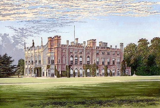 This was Cassiobury Park, in Hertfordshire, England. The House was begun in 1546, and, over the years, extensive additions followed. In 1927, the entire structure was demolished (OUCH!). Cassiobury Park's destruction was fortunately-timed: Richard T.Crane Jr. acquired many of its most precious interior decorations, which Richard Adler then installed at Castle Hill's Great House. Cassiobury Park's most valuable elements, the decorative woodcarvings by Grinling Gibbons, now decorate the Library of the Crane House.
