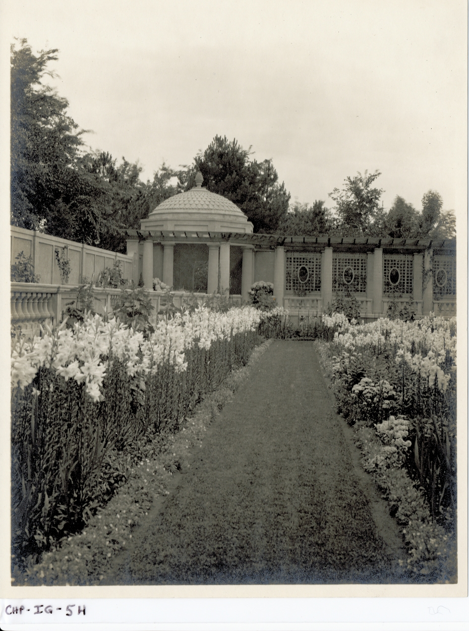 Another vintage photo of the Italian Garden, circa 1915. Image courtesy of the Trustees of Reservations, Archives & Research Center