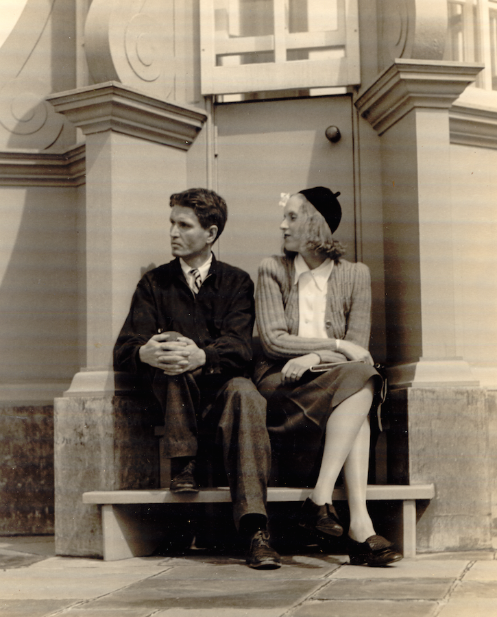 Cornelius and his sister Florence, sitting on the Cupola's steps, in the early 1930s. Image courtesy of the Trustees of Reservations, Archives & Research Center.