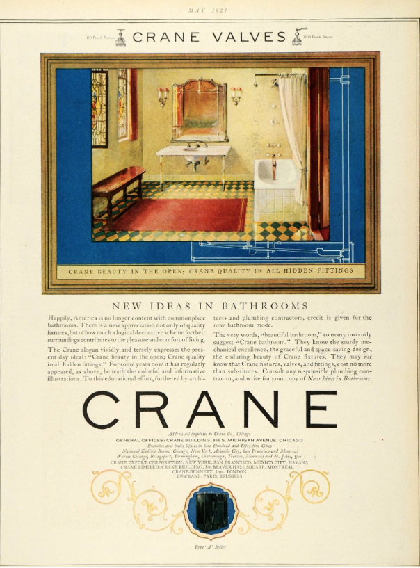 Part of R.T.Crane Junior's national advertising campaign.
