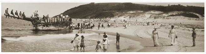 Vintage photo of the Crane Beach Picnic, circa 1911. Image courtesy of the Trustees of Reservations.