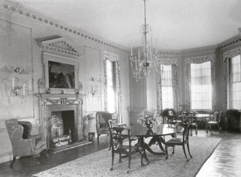 Vintage photo of the Dining Room, as it looked from 1928 until 1949. Image courtesy of the Massachusetts Historical Society.