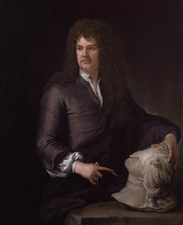 Grinling Gibbons (born 1648, died 1721). Gibbons was a Dutch-British sculptor and wood-carver whose work decorated St.Paul's Cathedral, Windsor Castle, Blenheim Palace, Trinity College Chapel at Oxford, and Hampton Court Palace (and that's just the beginning....)