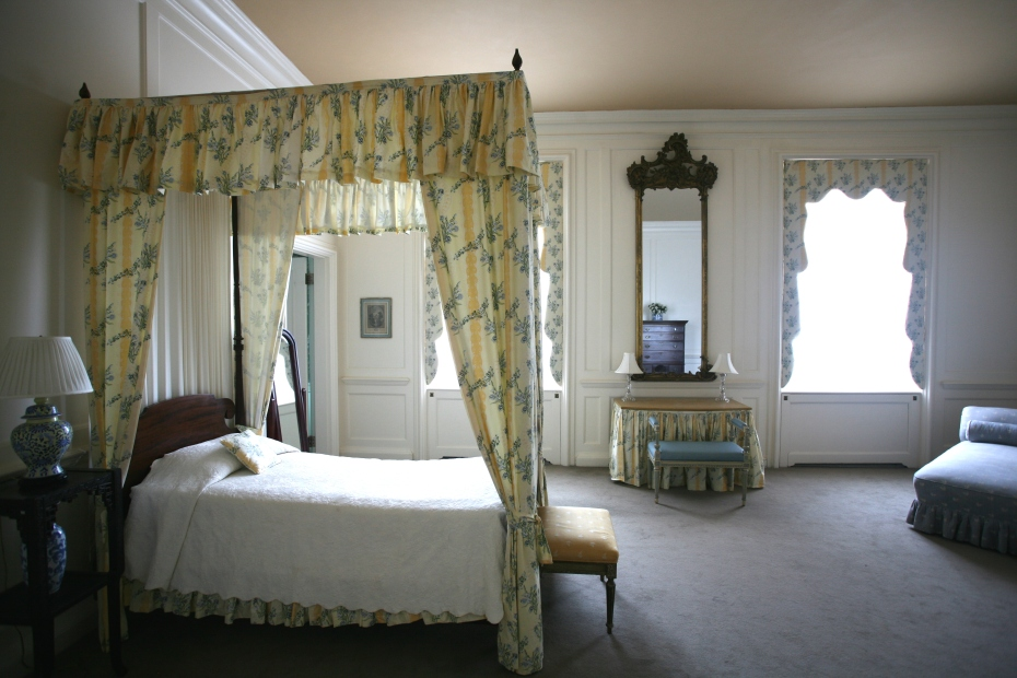 "The Apricot Guest Room is not open to visitors taking tours of the Great House. But when the Crane Estate is rented out to wedding parties, this room is used as the ""Bride's Room."""