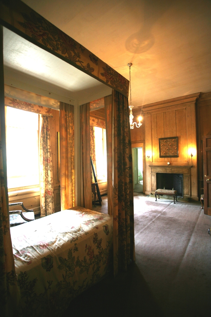 In Mrs. Crane's bedroom: looking back toward the door that leads to her dressing room, and then to the bathroom, which is on the opposite side of the dressing room.