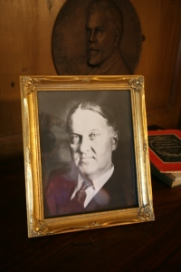 This photo of Richard Teller Crane Junior is displayed in his bedroom, on the second floor of the Great House. Crane was born in 1873, and died in 1931. He had very few years to enjoy his second Great House, which was completed in 1928.