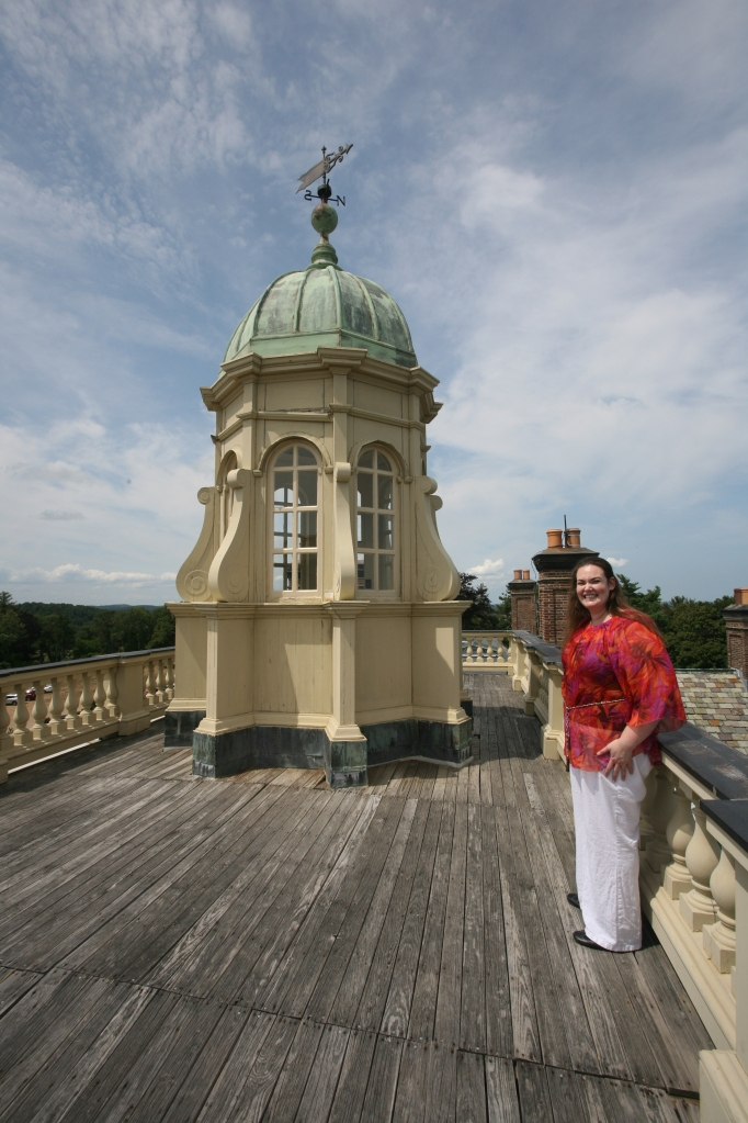 Pilar Garro, on the rooftop of Castle Hill's Great House. August 12th, 2014.