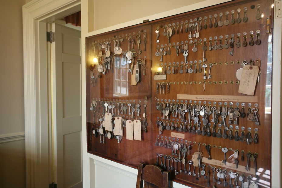 In the Butler's Suite is a double-layered Key Cabinet, which held over 200 numbered and labeled keys.
