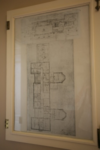 On another wall in the Butler's sitting room are numbered floor plans, which correspond to the house keys. Egad...this Butler's life was NOT simple.