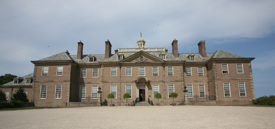 The full expanse of the Front, southwest-facing side of the Great House